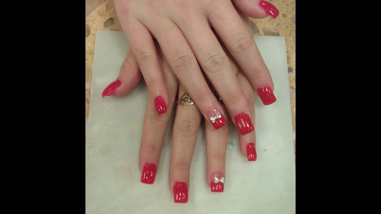 HOW TO DIAMOND 3D BOW NAILS - YouTube