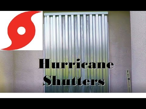 How To Install Bertha Hurricane Shutters Vertical Youtube