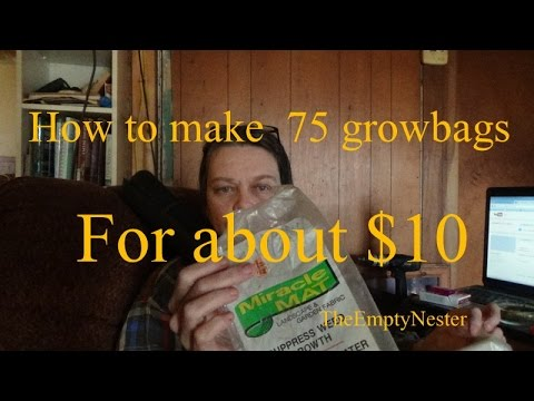 `How to make 75 growbags for about $10