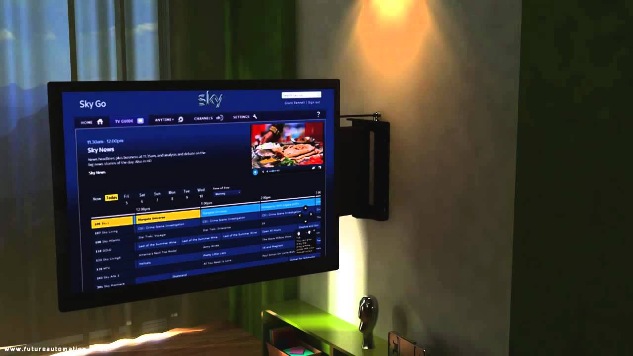 Support tv motoris pse90 par future automation youtube - Support tv motorise ...