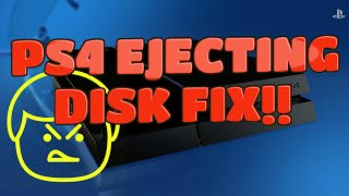PS4- Stuck Disk/PS4 Beeping/ Disk ejecting FIX!