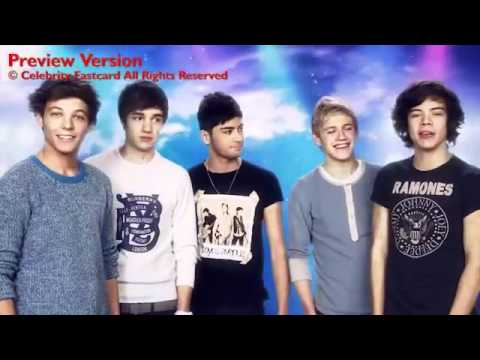 One Direction Celebrity Fast Card Happy Birthday Youtube