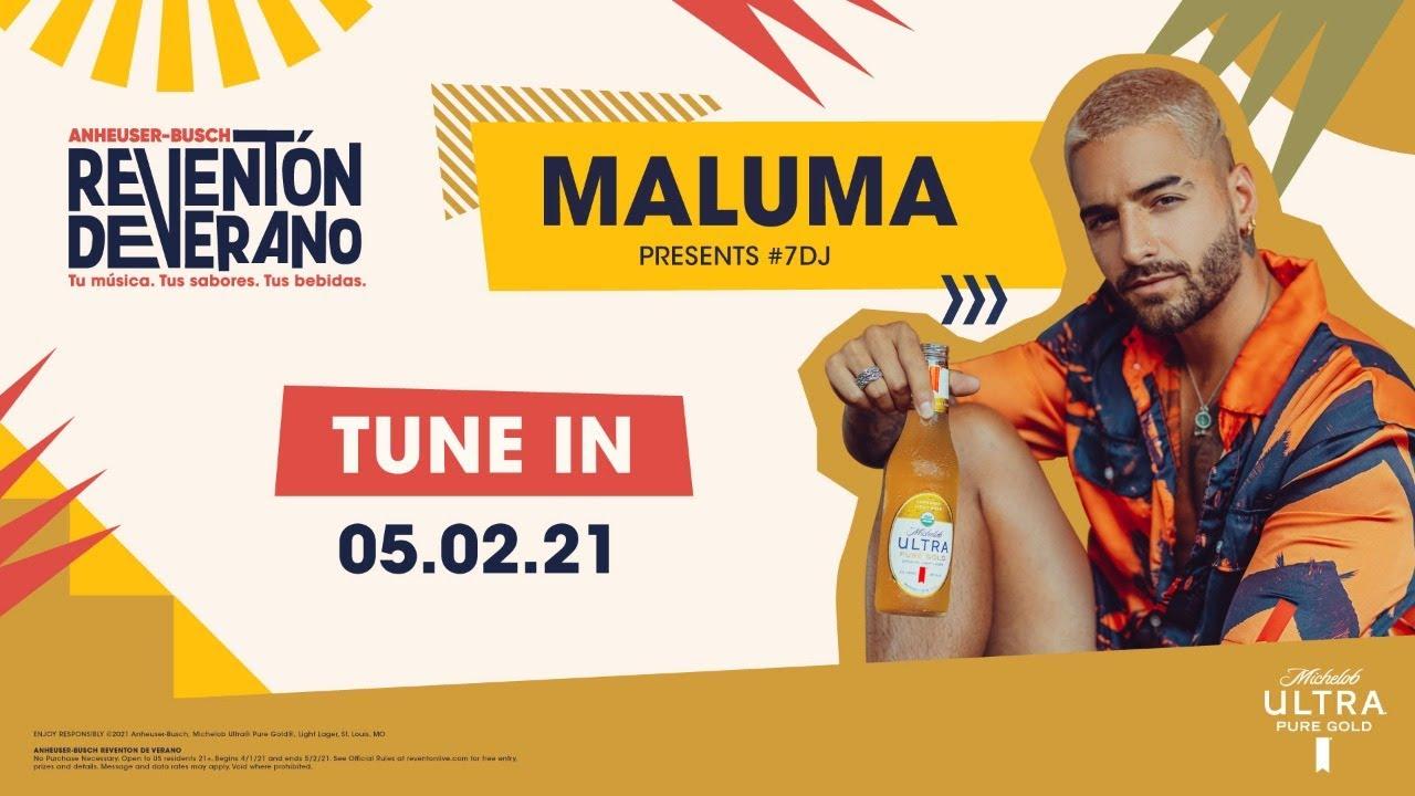 Maluma Performs #7DJ w/ Michelob ULTRA @ Anheuser-Busch Reventón de Verano