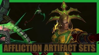 10 Cool Affliction Warlock Artifact Sets WoW Legion [Deadwind Harvester Transmog]