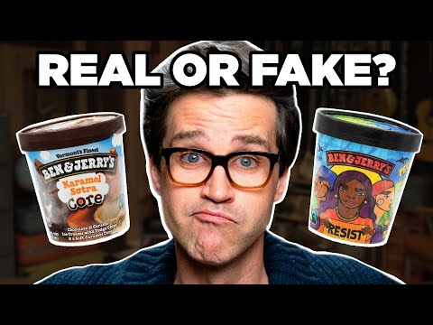 Real Or Fake Ben & Jerry's Ice Cream Flavors (GAME)