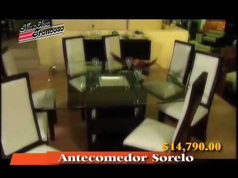 Muebles troncoso ant sorelo con 8 sillas youtube - Muebles troncoso recamaras ...