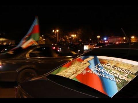 Azerbaijani people celebrate glorious victory