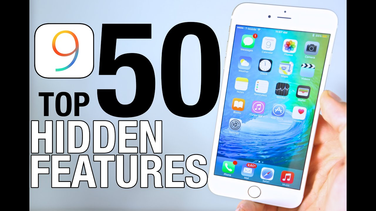 iOS 9 Hidden Features - Top 50 List