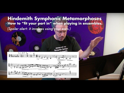 Bass Clarinet Orchestral Excerpt: Hindemith Symphonic Metamorphosis