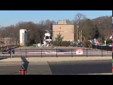 MedEvac Helicopter Departing NorthWell Health Long Island University  Hospital In Suffolk County, LI