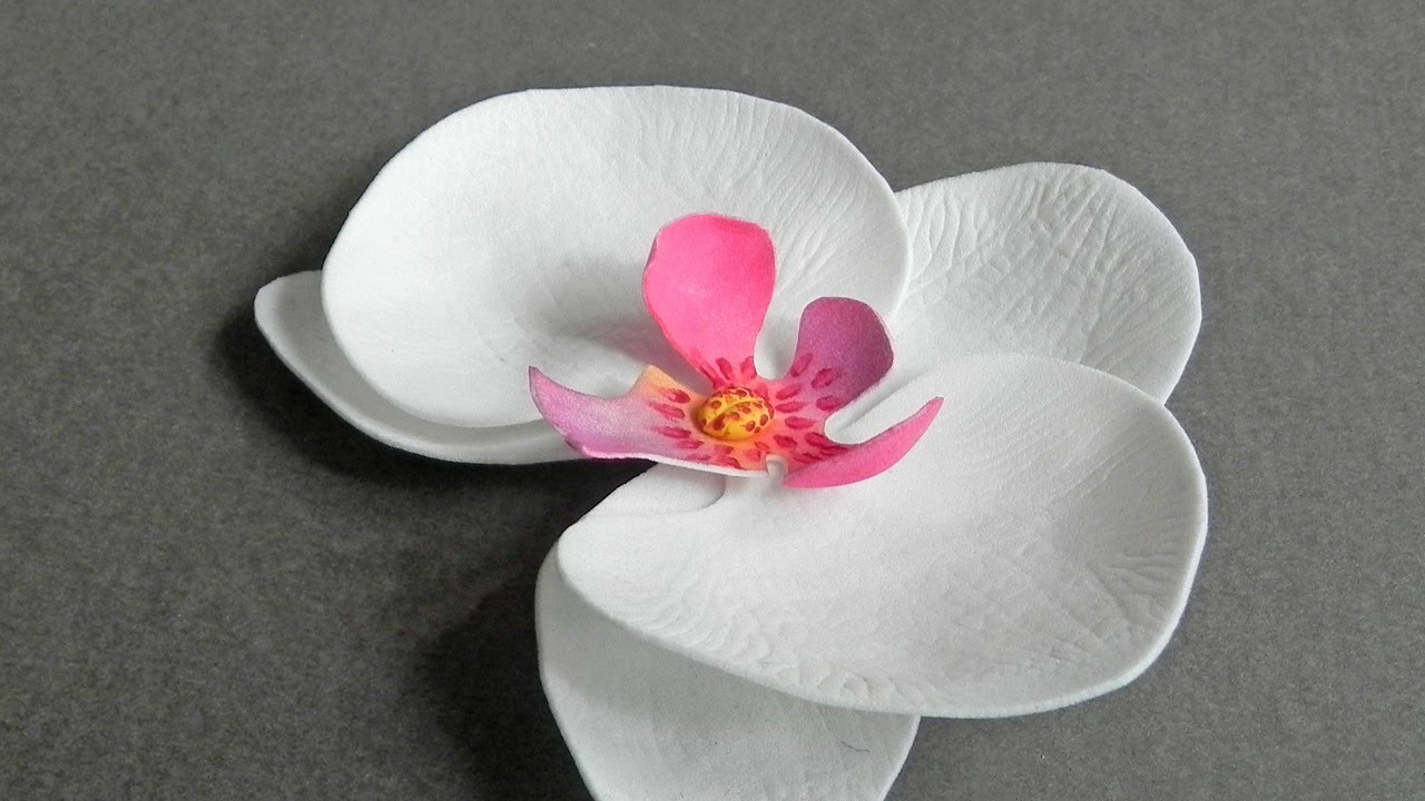 orchid flower making with paper