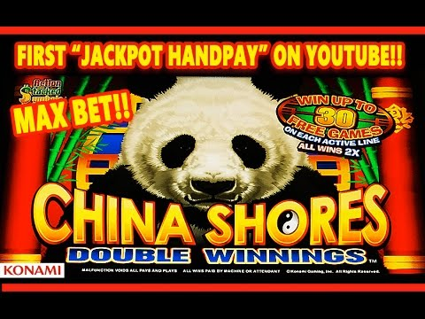 *JACKPOT HANDPAY* - CHINA SHORES DOUBLE WINNINGS -MAX- MEGA HUGE SLOT WIN! - Slot Machine Bonus - 동영상