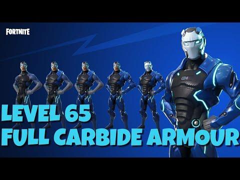 FORTNITE FULL CARBIDE ARMOUR LEVEL 65