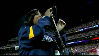 Patti Labelle sings the National Anthem at the World Series