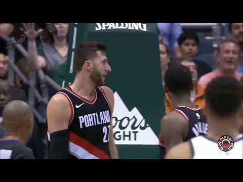 Portland Trail Blazers vs Milwaukie Bucks - Blazer Highlights - October 21, 2017