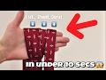 HOW TO TIE A TIE IN 10 seconds (easy method)