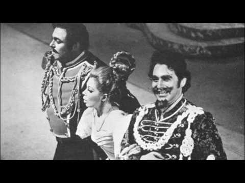 """Freni, Pavarotti, Ganzarolli - Stretti insiem tutti e tre - """"La figlia del reggimento"""" (Milano 1969)"""