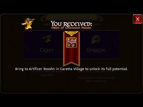 Arcane Legends - Level 46 Mythic Helm Ingredients