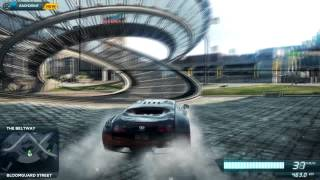 Need for Speed: Most Wanted 2012 (PC) Bugatti Veyron Gameplay (HD) 400 meter JUMP and MORE!