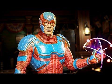 INJUSTICE 2 Atom All Intros Dialogue Character Banter 1080p HD