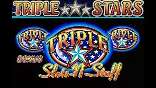 Triple Stars High Limit Slot Play With Bonus Rounds