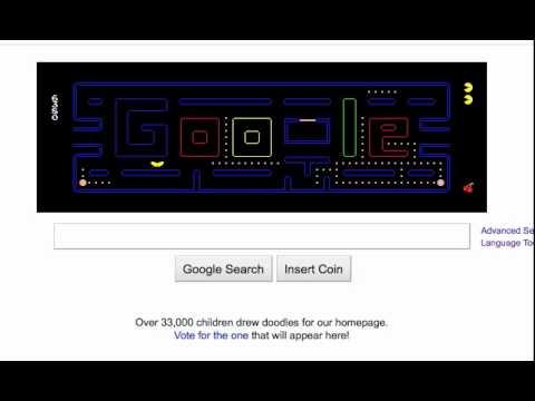 Pac-Man Google Logo
