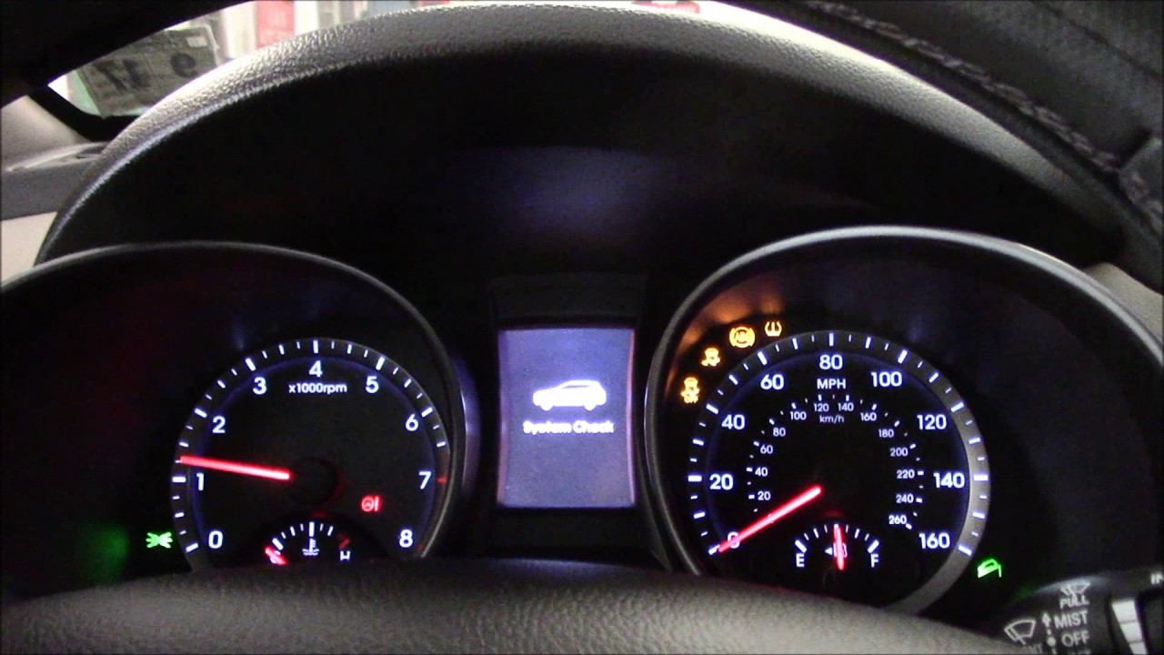 Reset the service required light 2012,2013,2014,2015,2016 Hyundai Santa Fe - YouTube