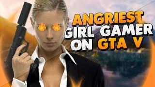 Angriest Girl Gamer on Xbox Live! (GTA 5 Trolling)