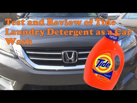 Test and review of Tide Laundry Soap as a Car Wash