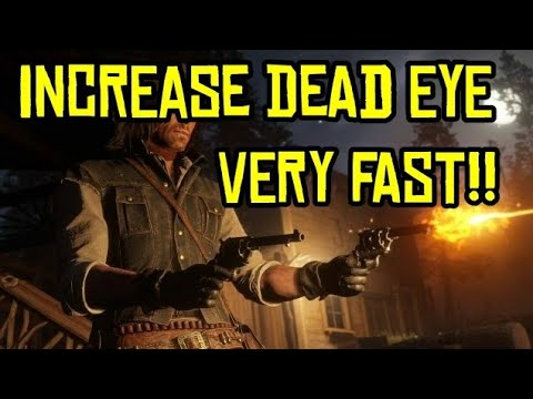 RED DEAD REDEMPTION 2 BEST WAY INCREASE DEADEYE LEVEL EASY!/RED DEAD REDEMPTION 2 TIPS AND TRICKS