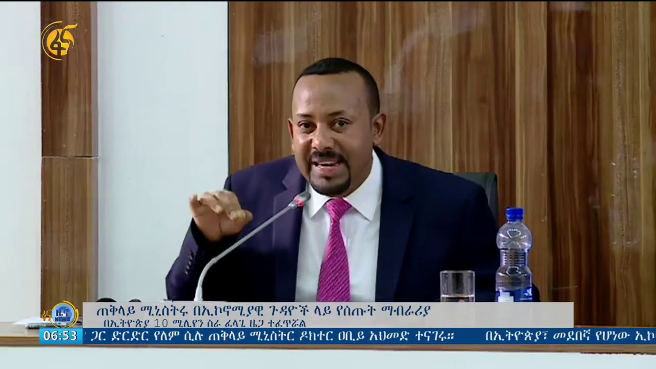 PM Abiy's Explanation On Our Economy