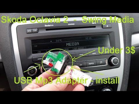 Skoda Octavia - Radio Swing - USB Mp3 Adapter Install  (under 3$)