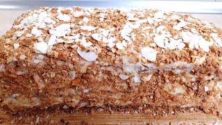 Ленивый торт Наполеон с заварным кремом Рецепт за 30 мин В разы дешевле чем покупать в магазине