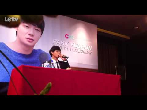 [LETV] 130111 Yuchun Beijing Media Day -Message to Chinese fans 1.flv
