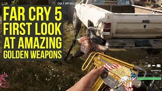 Far Cry 5 Gameplay FIRST LOOK At Best Weapons - Golden Weapons (Farcry 5 Gameplay - FarCry5)