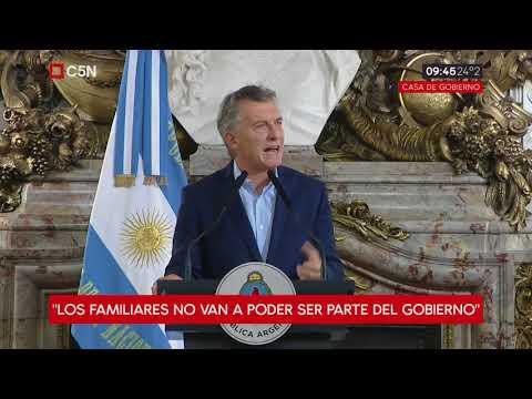 Mauricio Macri anuncia la reducción de los cargos políticos en el Poder Ejecutivo Nacional
