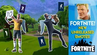 Fortnite - France Fuite Emotes à venir! ( Phone It In, ShowStopper, Mime Time, Scorecard )