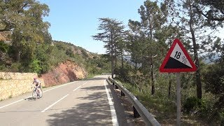 60 Minute Uphill Indoor Cycling Motivation Training Spain 2018 4K Workout
