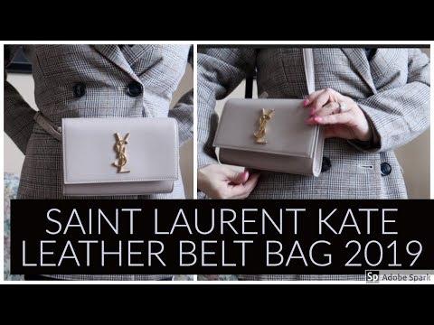 bdec4664a00 Unboxing | Saint Laurent Kate Leather Belt Bag | 2019 - YouTube
