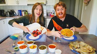 INDIAN FOOD in Canada ??: Trying PUNJABI FOOD in Brampton + Stories From Our FIRST TRIPS to INDIA!??
