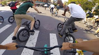 BMX BIKE RIDERS RACE THROUGHOUT MANHATTAN  FOR CASH!