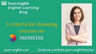 How to choose Memrise courses? - 5 criteria - Pyers English
