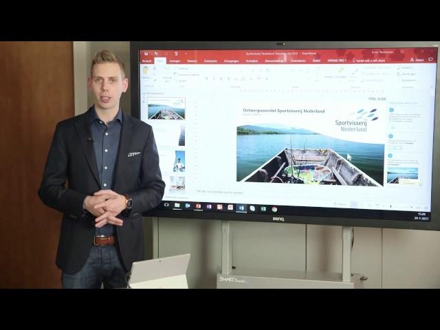 PowerPoint template en slide-bibliotheek Sportvisserij Nederland