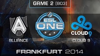 Cloud 9 vs. Alliance - Quarterfinals Map 2 - ESL One Frankfurt 2014 - Dota 2