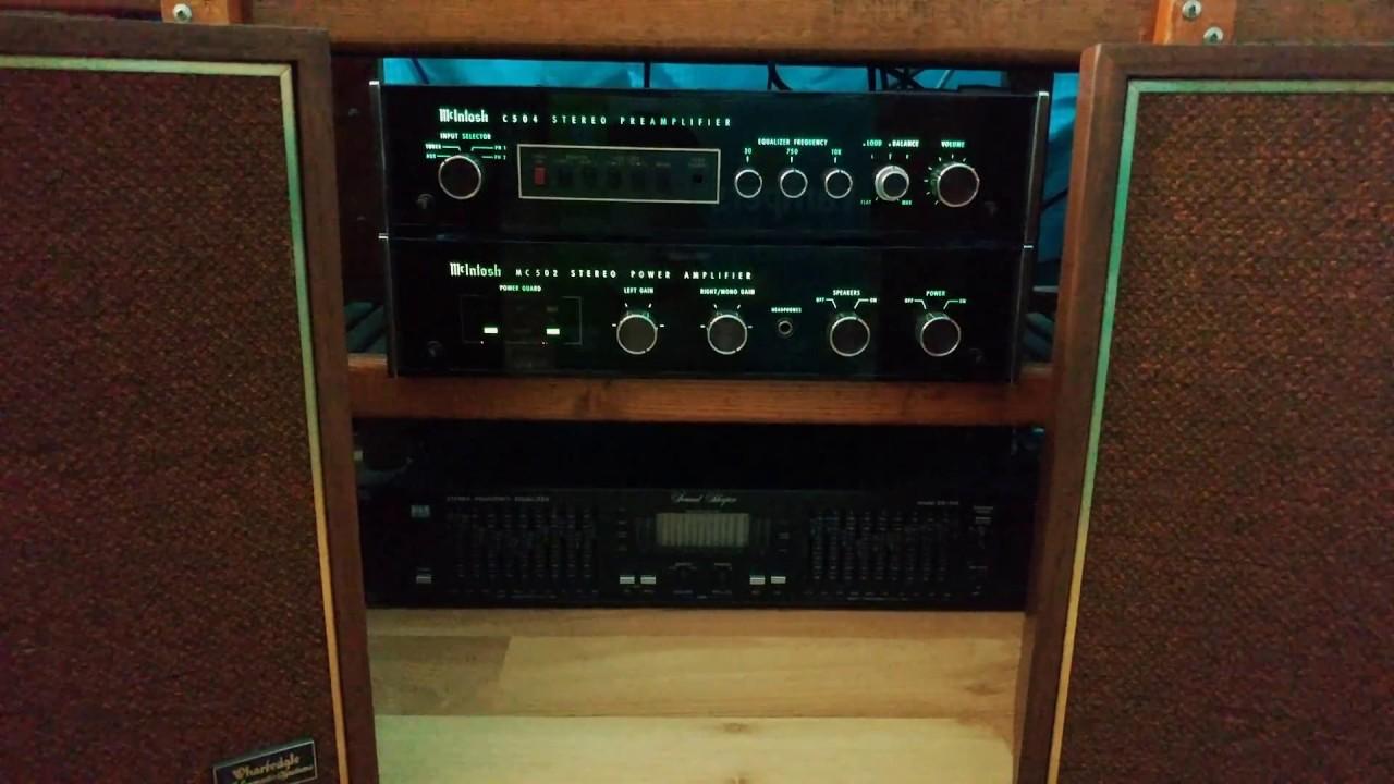 mcintosh c504 preamp mc 502 power amp wharfedale w35 speakers