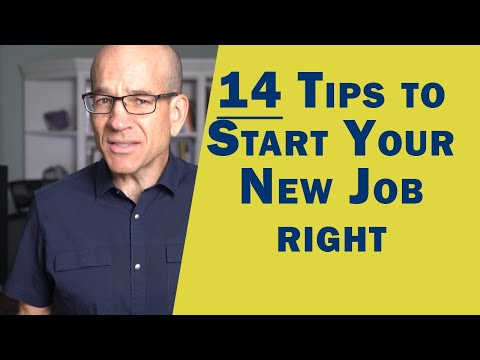 14 Tips to Start the First Day of Your New Job - Making a Great First Impression