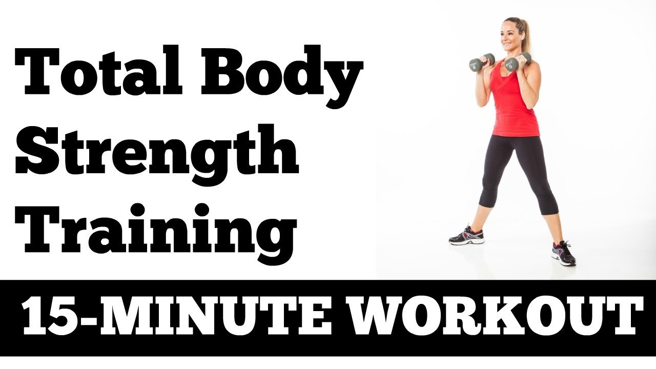 15-Minute Total Body Strength Fat Burning Circuit Workout with Dumbbells