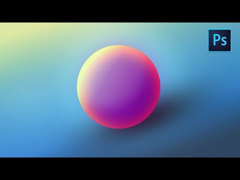 [ Photoshop Tutorial ] How to Create Gradient Ball in Photoshop thumbnail