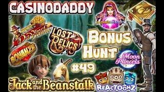 BIG WIN!!! CasinoDaddy Bonus Hunt - Bonus Compilation - Bonus Round episode #49