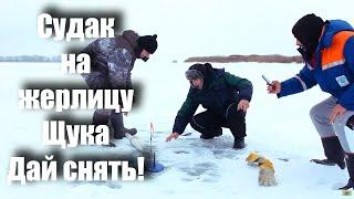 Зимняя рыбалка на жерлицы. Судак, щука -15C
